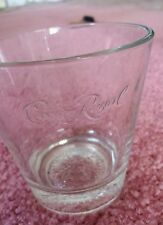 CROWN ROYAL DRINK GLASSES LOT BOTTOMS UP ON THE ROCKS