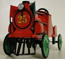 RXR Pedal Car Vintage Train Engine Metal Show Classic Railroad Midget Model Red