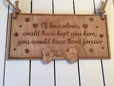 Personalised Plaque Pet Dog Cat Memorial Remembrance Gift - wooden ready thang