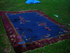 Gorgeous Signed Antique 1920'S Nichols Chinese Art Deco Rug 9X12