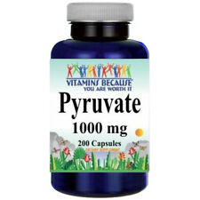 Calcium Pyruvate 1000mg 200caps by Vitamins Because