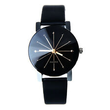 Damen Sport Armbanduhr Datum Edelstahl Damen uhr Elegant Leder Quarz Uhr NEU