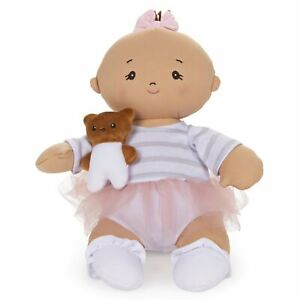 "GUND Baby Asian Baby Doll with Teddy Bear Plush Brunette, 9"""