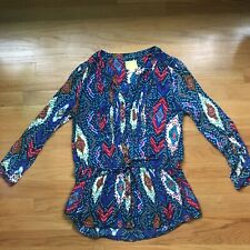 Maeve Anthropologie Button Down Tunic Top Blouse Sz 6