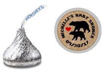 108 Black Bear Lumberjack Hershey Kiss Labels Stickers Baby Shower Party Favors