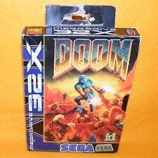 VINTAGE 1994 SEGA MEGA DRIVE 32X DOOM CARTRIDGE VIDEO GAME BOXED PAL VERSION