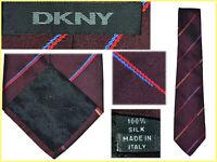 DKNY DONNA KARAN Cravatte Uomo 100% Seta Made In ItalAL PREZZO DI SALDI DK02 T0G
