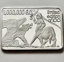 Green Country Mint One Million B.C. 1 Oz .999 Silver Bar Rare Only 100
