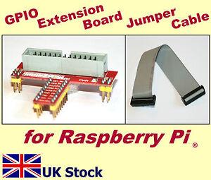 Raspberry Pi GPIO Extension Board Shield / 26-pin IDC Jumper ribbon cable  -  UK
