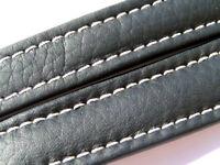 Breitling Band 147X 18mm 18/16 115/80 Kalb schwarz black negra Strap 022-18