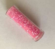 Tube of 2mm Gutermann bugle beads - colour baby pink 4942  10g