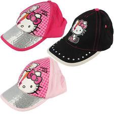 Mädchen Hello Kitty Baseball Kappe Schwarz Oder Dunkel Rosa Oder Rosa HK3127