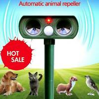Solar Power Ultrasonic Pest Animal Repeller Garden Cat Control Pet Scarer G7U3