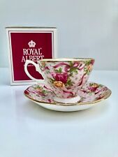 Royal Albert Old Country Roses Ruby Celebration Pink Ribbon Chintz