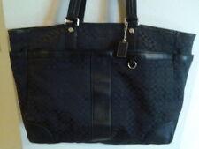 Coach Black Signature Stripe Diaper Baby Bag Multifunction Tote F77156