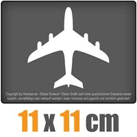 Flugzeug 11 x 11 cm JDM Decal Sticker Auto Car Weiß Scheibenaufkleber