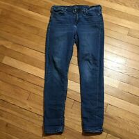 Lucky Brand Womens Brooke Legging Jeans 10/30 Blue Dark Wash Stretch