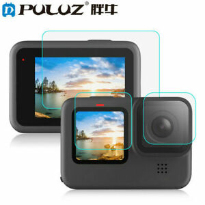 PULUZ for GoPro HERO 9 Black Lens + LCD Display Tempered Glass Protector Film