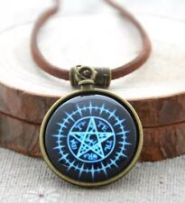 "Black Butler Kuroshitsuji Symbol Necklace Pendant Anime Leather 1"" US Seller"