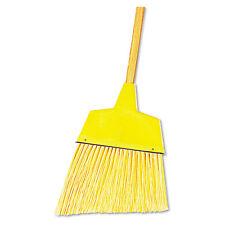 "Boardwalk Angler Broom Plastic Bristles 53"" Wood Handle Yellow 12/Carton 932Act"