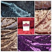 """Ice Crushed plush Velvet ideal for Dress Fabric 58"""" Wide M796 Mtex"""