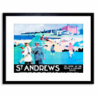 St Andrews Scotland Golf Royal Ancient Sport Framed Art Print 9x7 Inch