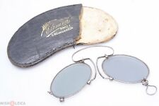 ✅ ANTIQUE PINCH, PINCE NEZ GREY SUN GLASSES SPECTACLES VICTORIAN