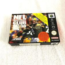 NFL Quarterback Club 98 for Nintendo 64 (N64) - PAL Version - Brand New & Mint.