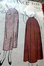 LOVELY VTG 1940s SKIRT ADVANCE Sewing Pattern WAIST 24 FF