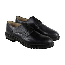 GBX Brenner Mens Black Leather Casual Dress Lace up Oxfords Shoes 10
