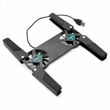 NOTEBOOK LAPTOP NETBOOK KÜHLER LÜFTER COOLING PAD 2 X LÜFTER USB Faltbar Schwarz