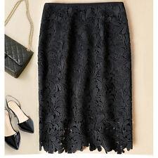 1piece 2017 Women Floral Lace High Waist Wear to Work Slim Tight Skirt XL Black