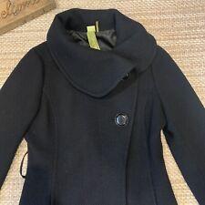 Soia & Kyo Wool Coat Textured Oversized Collar Size Medium