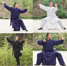 Taoist Shaolin Monk Kung Fu Linen Robe Tai Chi Uniform Wushu Sets Martial Arts