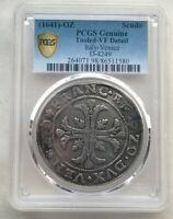 Italy Venice 1641-OZ Scudo PCGS Silver Coin,Rare!