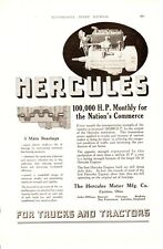 1920 ad Vintage Car part Hercules Engine for Trucks and Tractors Dietz kerosene