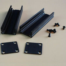 Extruded Aluminum Box Black Enclosure Electronic Project Case PCB DIY 50*25*25mm