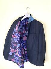 $1840 Men's ETRO Milano Sport Striped Blazer Coat Jacket UK 38 EU 48 Blue Navy