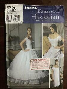 New SIMPLICITY Misses Corset Chemise & Petticoat Pattern 5726 Size 6-12