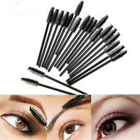 50Pcs Black Disposable Makeup Eyelash Mascara Wands Eyeliner Brush Applicator US