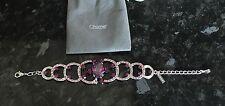 Brand New Chomel Fashion Bracelet Pink And Purple Stones