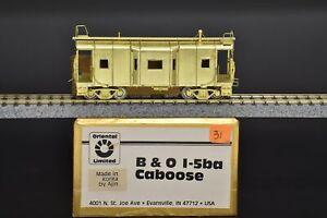 HO Brass - Oriental Baltimore & Ohio B&O I-5ba Caboose - Unpainted