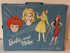 1964 Barbie and Midge - Vintage Blue Vinyl Carry Doll Case