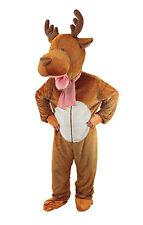 Childs Reindeer Big Head Mascot Xmas Fancy Dress Costume Age 9-11 Years P9996