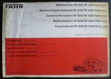 Fahr Mähdrescher M1300 + M1300 Hydromat Ersatzteilliste