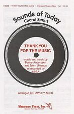 Abba Thank You For The Music Learn Sing Choir Vocal Piano SHEET Music Book