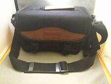 HAKUBA SHOULDER CAMERA BAG BLACK WITH BROWN ACCENTS