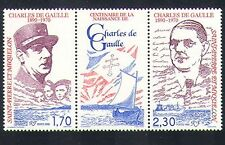 St Pierre & Miquelon 1990 Gen de Gaulle/Military/People 2v + lbl stp (n33881)