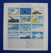 Palau (#404) 1996 Oddities of the Air MNH sheet