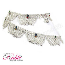 Very Atrractive Traditional Frill silver plated  anklet (payal)